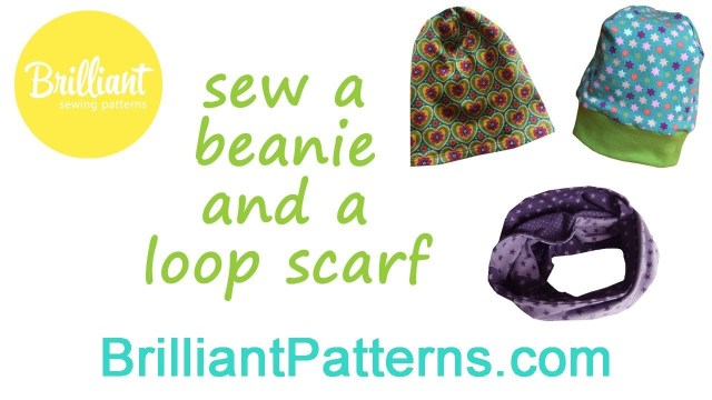 Beanie Sewing Pattern Sew A Beanie And Loop Scarf Brilliant Patterns Youtube