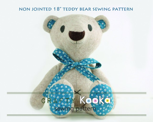Bear Sewing Pattern Teddy Bear Pdf Pattern Tutorial For Instant Download