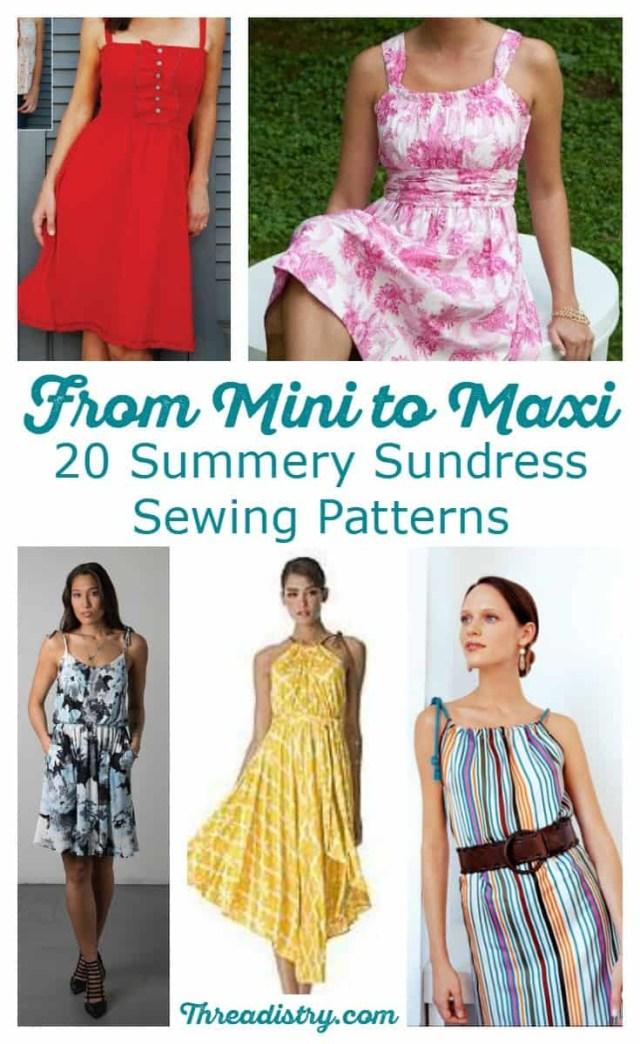 Beginner Sewing Patterns 20 Summery Sundress Sewing Patterns