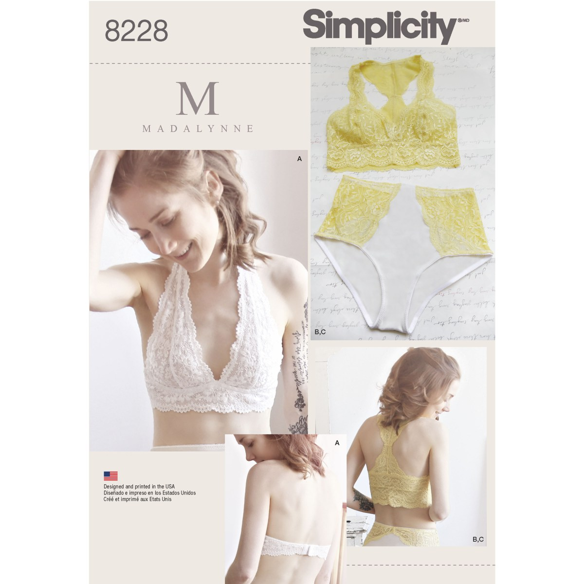 Bra Sewing Patterns Simplicity Pattern 8228 Womens Soft Cup Bras And Knickers