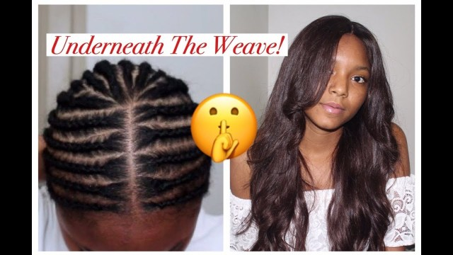 Braid Pattern For Middle Part Sew In Braid Pattern Middle Part Closure Beginner Youtube