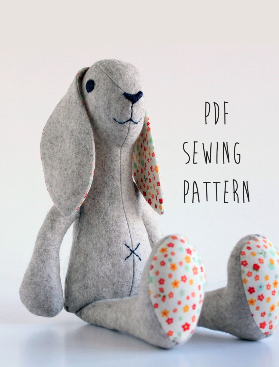 Bunny Sewing Pattern Bunny Sewing Pattern Sewing Tutorial Toy Sewing Pattern Instant