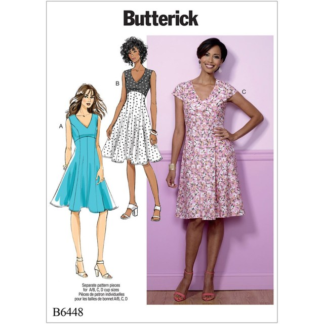 Butterick Sewing Patterns Misses Fit And Flare Empire Waist Dresses Butterick Sewing Pattern