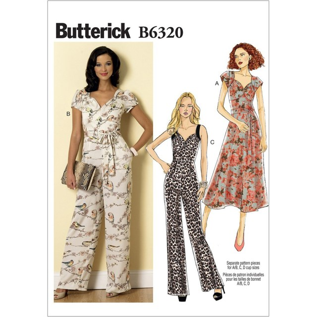 Butterick Sewing Patterns Misses Sweetheart Neckline Dress And Jumpsuits Butterick Sewing