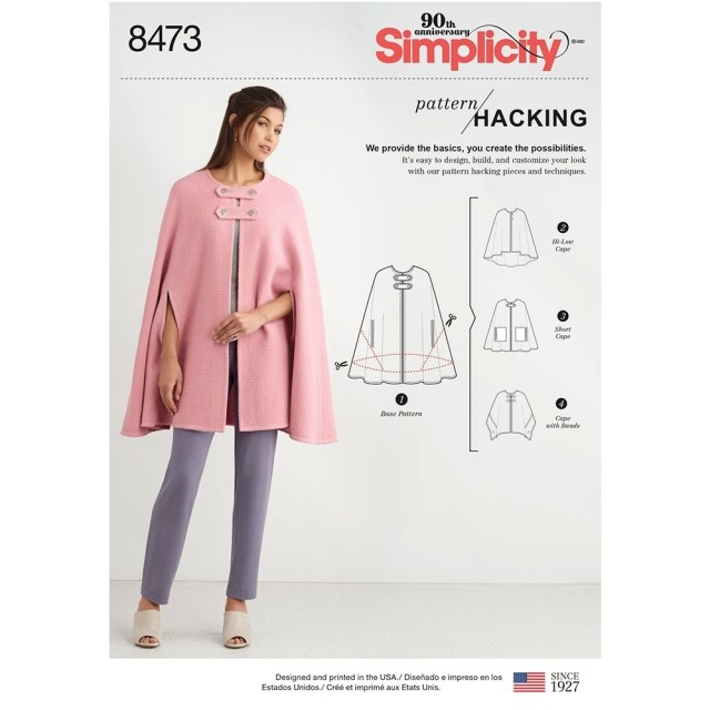 Cape Sewing Pattern Misses Capes With Options For Design Hacking Simplicity Sewing