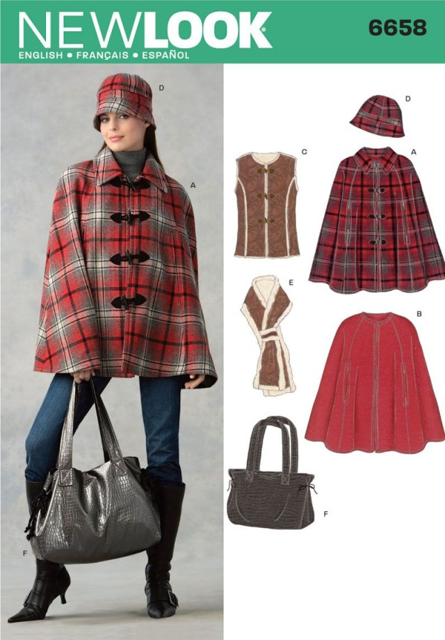 Cape Sewing Pattern New Look 6658 Sewing Pattern For An Upcoming Fall Cape Sewing