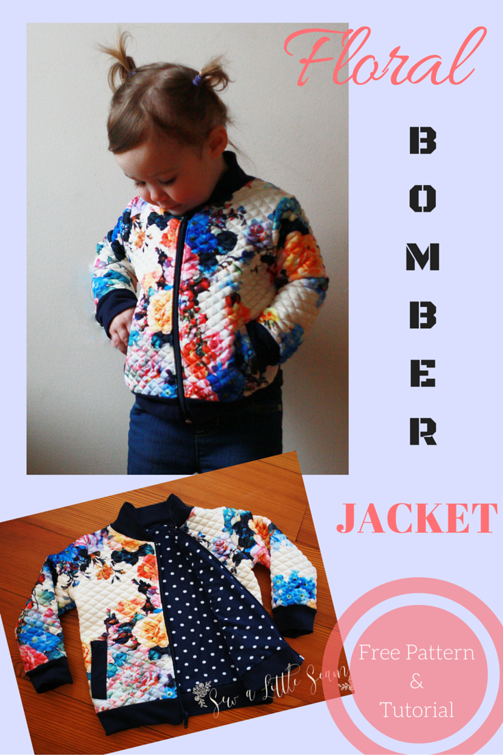 Cardigan Pattern Sewing Diy Floral Bomber Jacket Tutorial And Free Pattern Sew A Little Seam