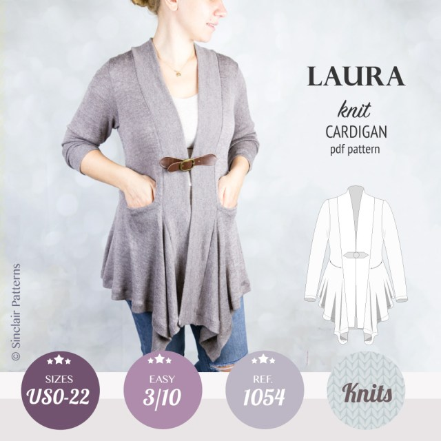 Cardigan Sewing Pattern Laura Relaxed Fit Shawl Collar Cardigan Pdf Sinclair Patterns