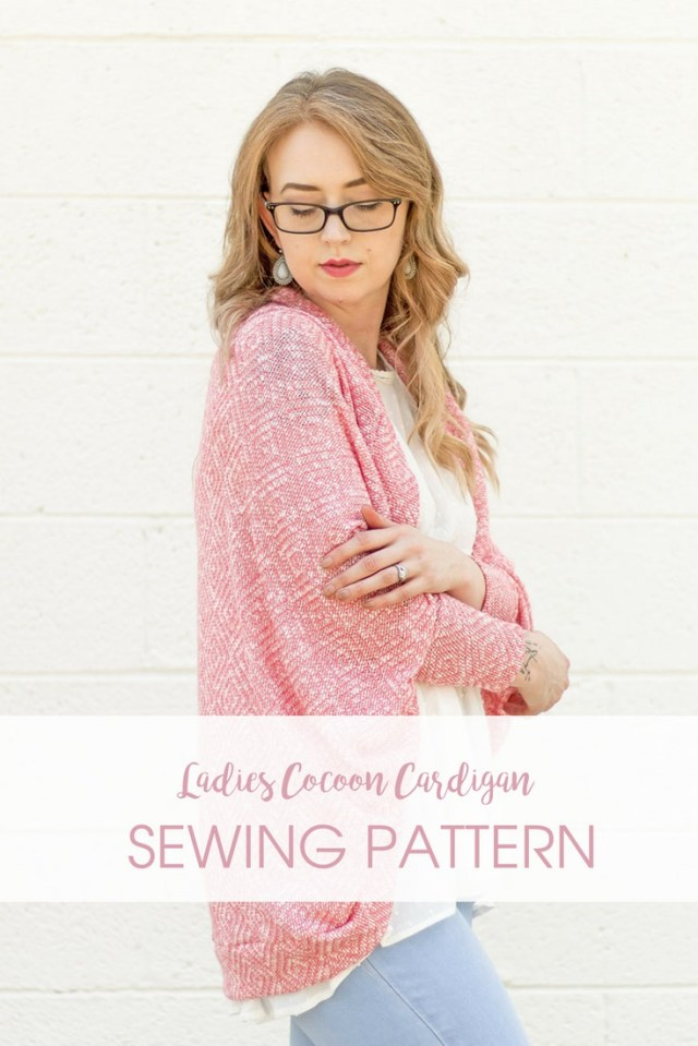 Cardigan Sewing Pattern The Cora Cocoon A Ladies Cocoon Cardigan Sewing Pattern