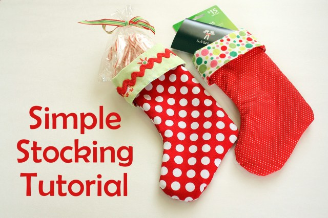 Christmas Stocking Sewing Pattern Easy Diy Stocking Tutorial