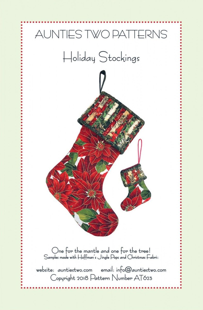 Christmas Stocking Sewing Pattern Holiday Stockings Sewing Pattern From Aunties Two Christmas