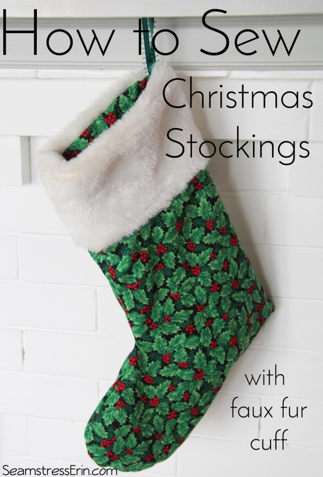 Christmas Stocking Sewing Pattern How To Sew Christmas Stockings With A Faux Fur Cuff Tuesday Stitches