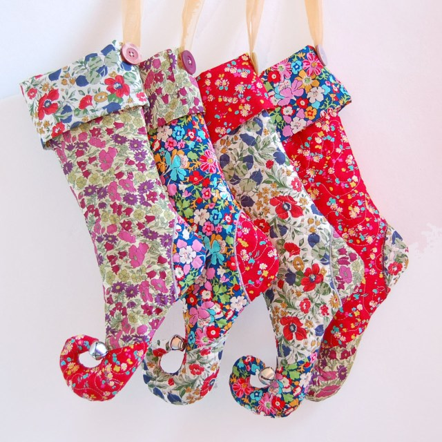 Christmas Stocking Sewing Pattern Liberty Print Elf Christmas Stockings 1a Love Sewing