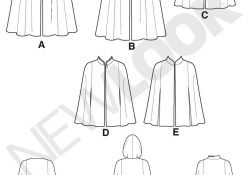 Cloak Sewing Pattern Cape Sewing Pattern In Two Lengths With Hood And Closure Variations