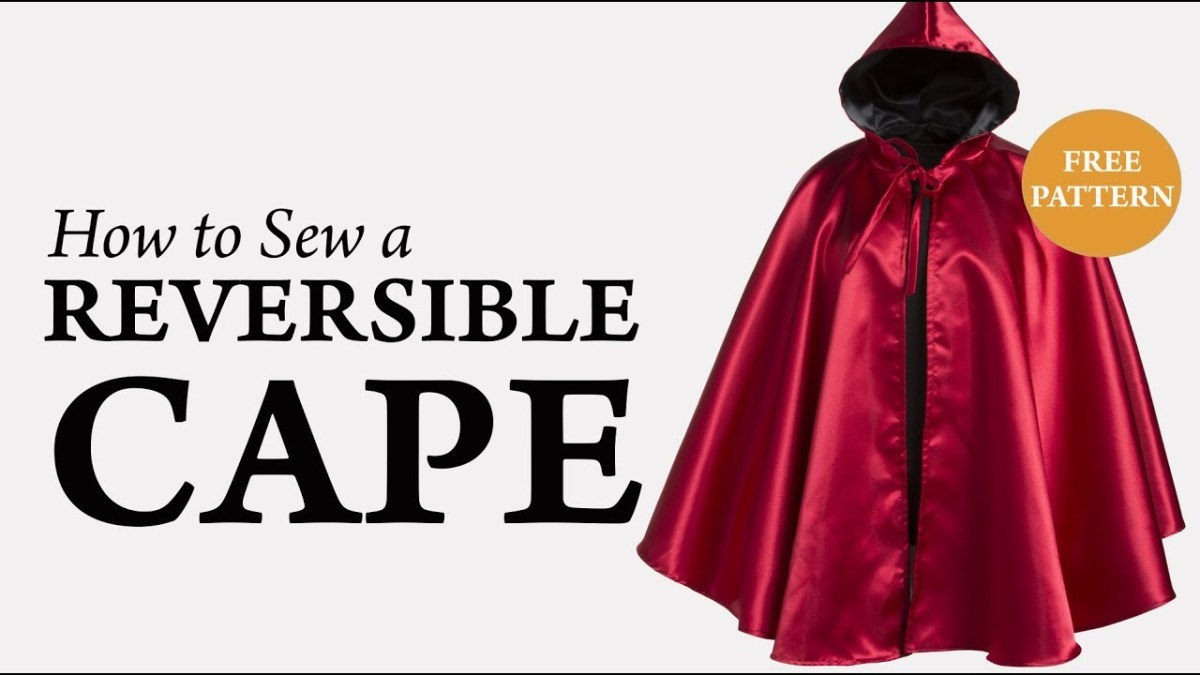 Cloak Sewing Pattern How To Sew A Reversible Cape Tutorial Youtube