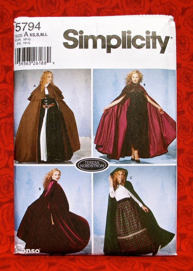Cloak Sewing Pattern Simplicity Sewing Pattern 5794 Long Cape Cloak Victorian Etsy