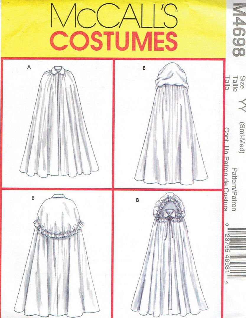 Cloak Sewing Pattern Victorian Renaissance Capes Cloak Misses And Similar Items