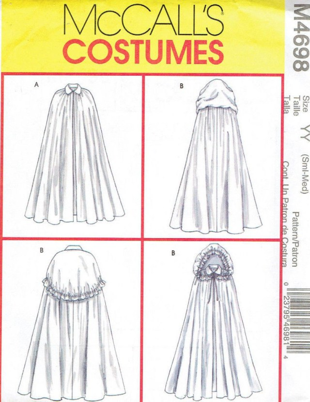 Cloak Sewing Pattern Victorian Renaissance Capes Cloak Misses And Similar Items