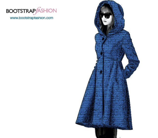 Coat Sewing Patterns Bootstrapfashion Custom Fit Pdf Sewing Pattern Of The Coat