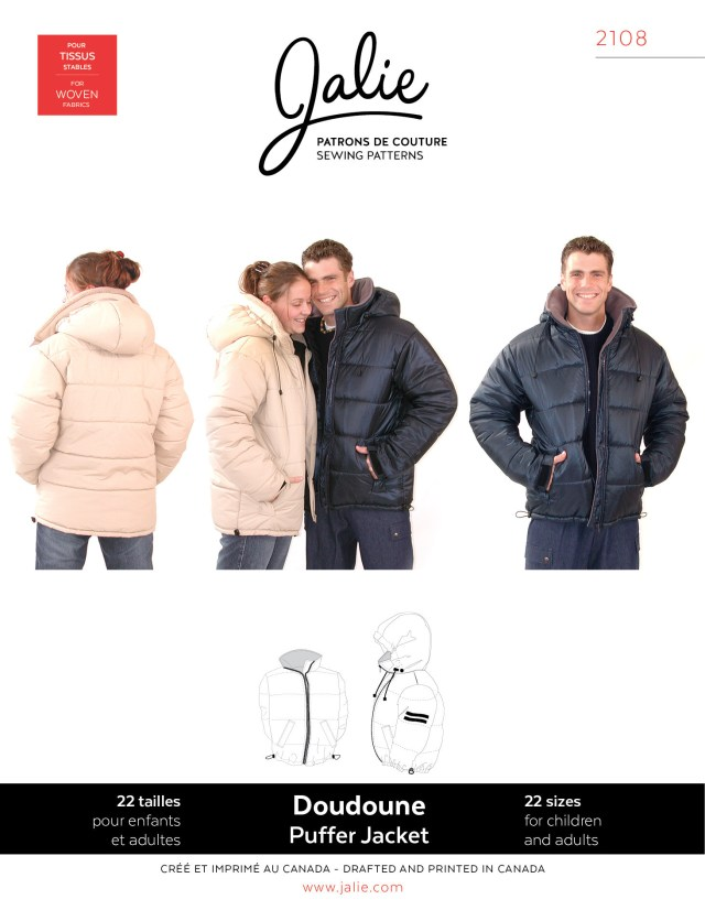 Coat Sewing Patterns Jalie 2108 Puffer Jacket Pattern Sewing Patterns
