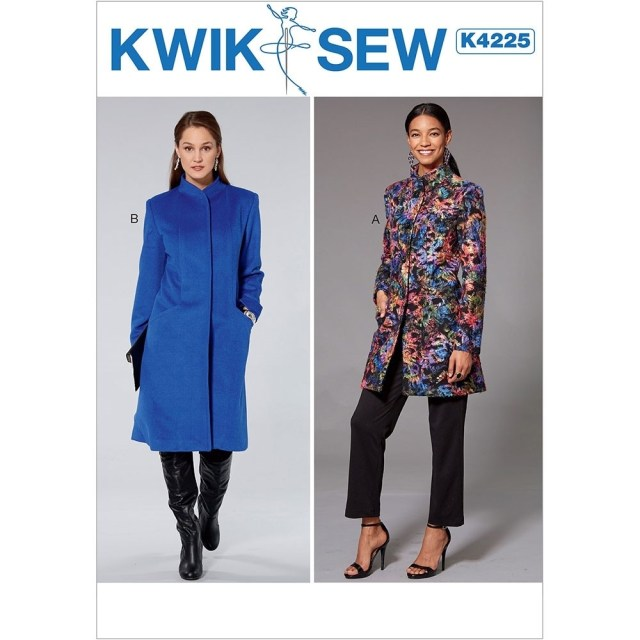 Coat Sewing Patterns Misses Princess Seam Jacket And Coat With High Collar Kwik Sew