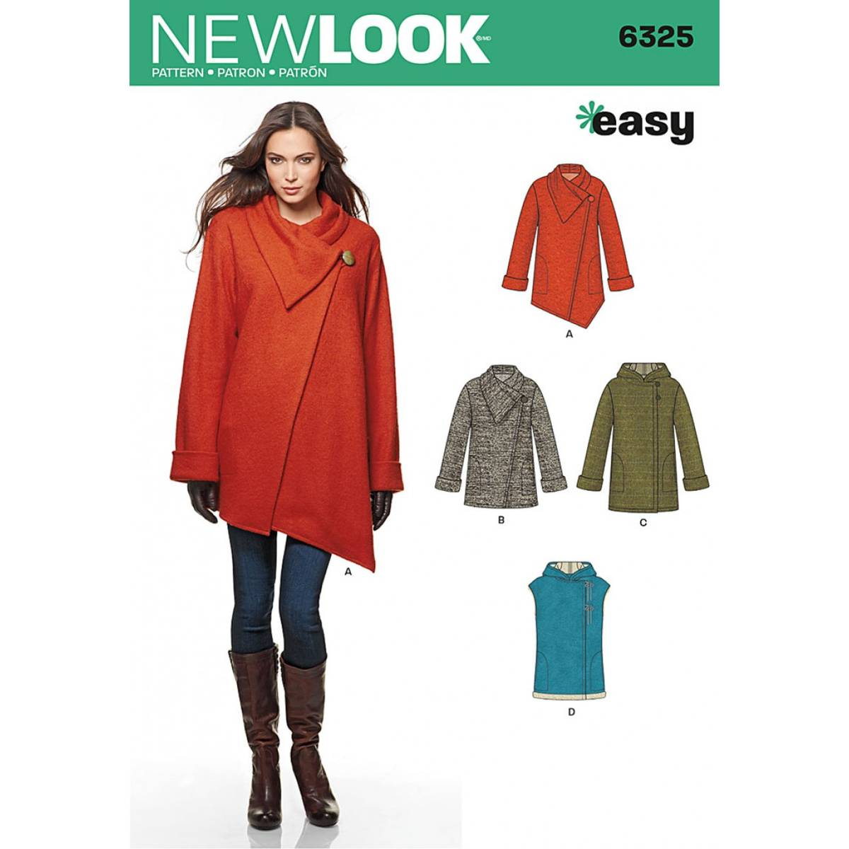 Coat Sewing Patterns New Look Womens Coat Sewing Pattern 6325 Hobcraft