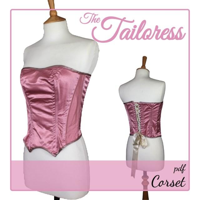 Corset Sewing Pattern Corset Pdf Sewing Pattern The Tailoress