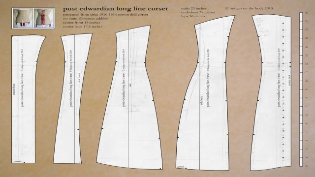 Corset Sewing Pattern Free Edwardian Corset Pattern Sewing Tips And Techniques