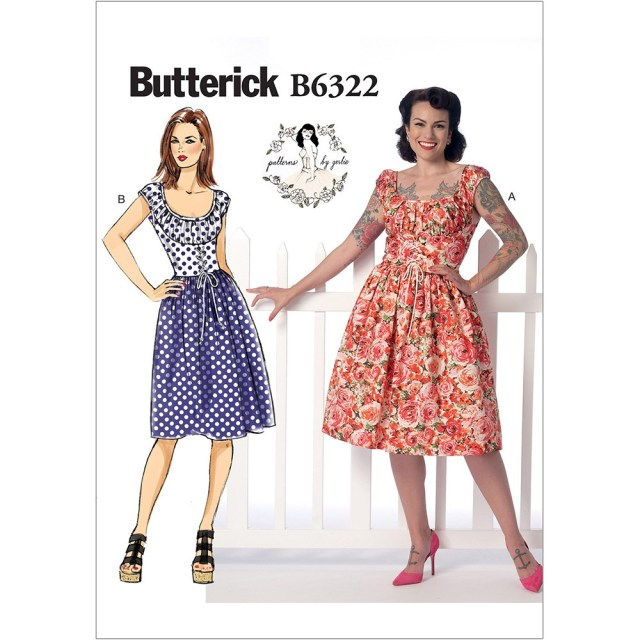 Corset Sewing Pattern Misses Ruched Corset Style Dress Butterick Sewing Pattern 6322 Sew