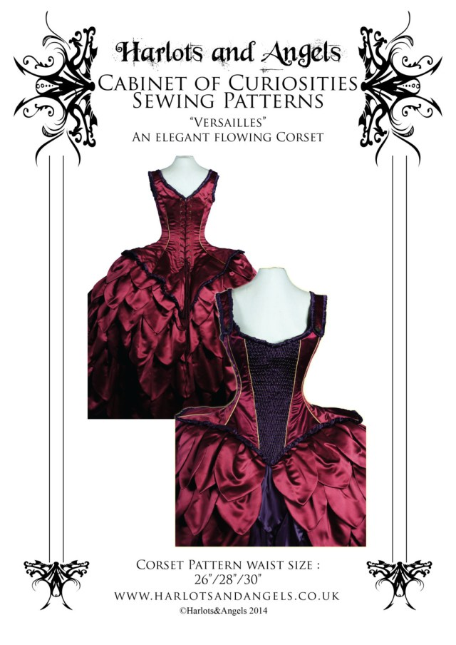Corset Sewing Pattern Rococo Corset Paper Sewing Pattern Tight Lacing Size Medium Etsy