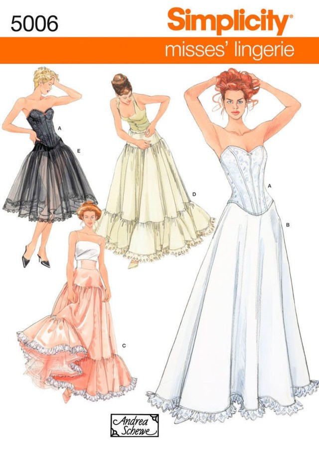 Corset Sewing Pattern Sewing Pattern Simplicity Misses Corset Lingerie 5006