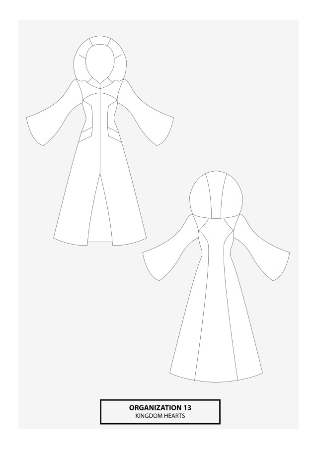 Cosplay Sewing Patterns Organization Xiii Kingdom Hearts Cosplay Sewing Pattern Nhen