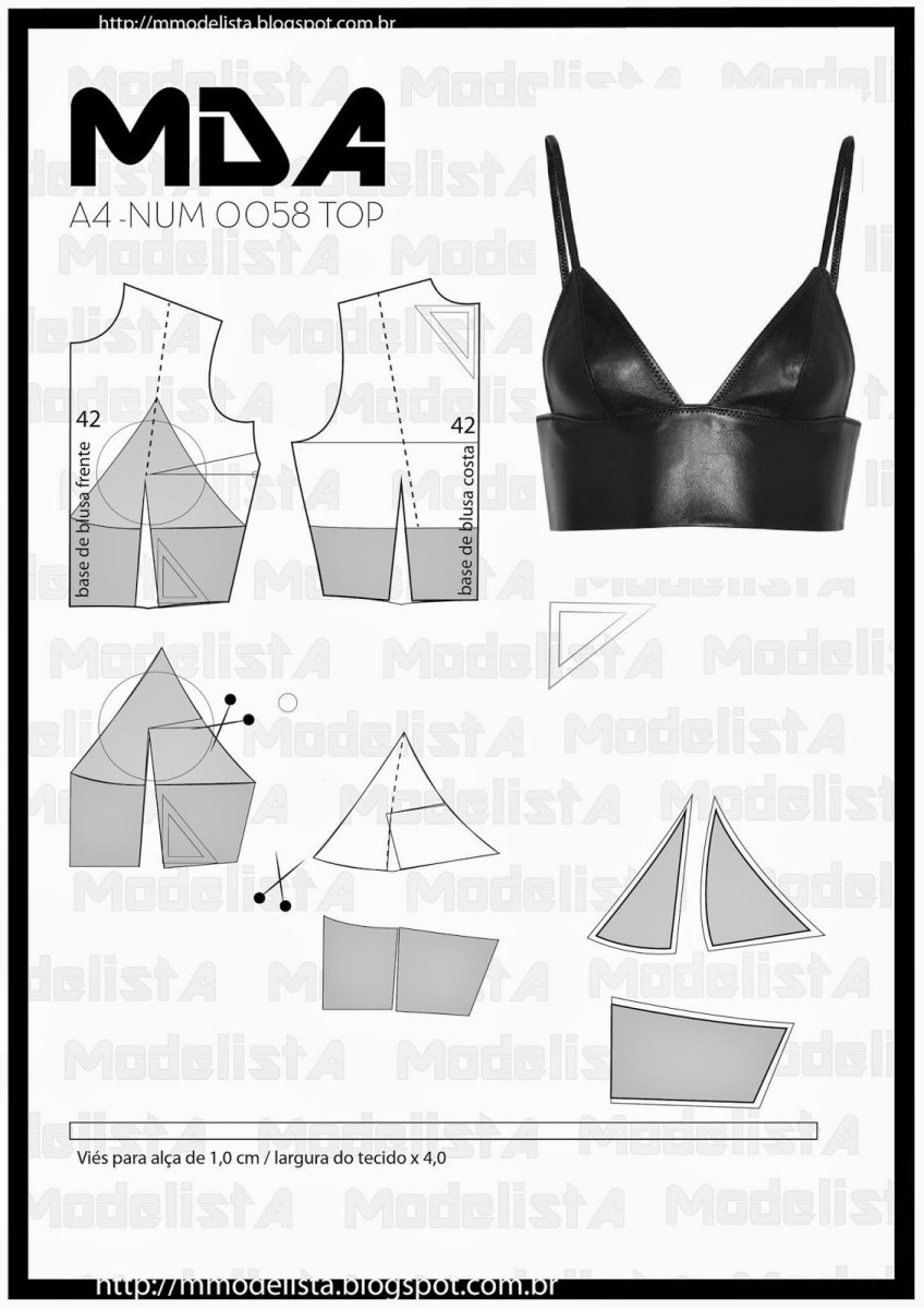 Crop Top Sewing Pattern A4 Num 0058 Top Learn Sewing Fashion Pinterest Sewing
