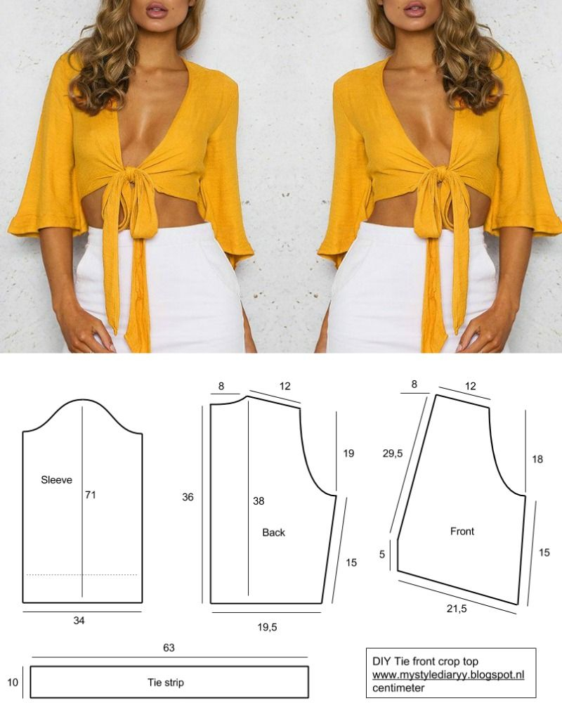 Crop Top Sewing Pattern Fashion And Diy Blog Diy Sewing Clothes Pinterest Diy Fashion