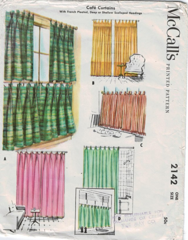 Curtain Sewing Patterns Mccalls Pattern 2142 Cafe Curtains French Pleated Deep Shallow