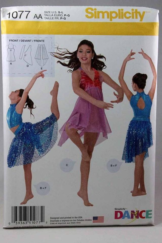 Dance Skirt Sewing Pattern Simplicity 1077 Girls Dance Wear Sewing Pattern Dancewear Pattern