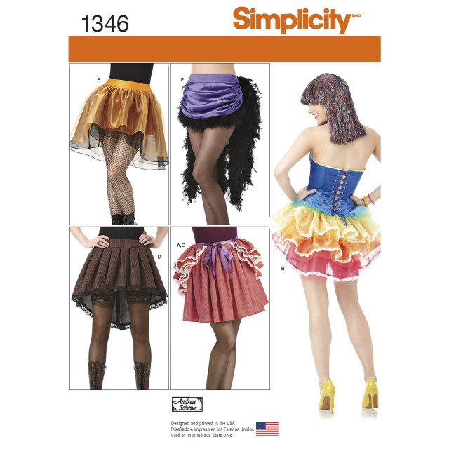 Dance Skirt Sewing Pattern Simplicity Womens Costume Skirts And Bustles 1346 Sewing Pattern