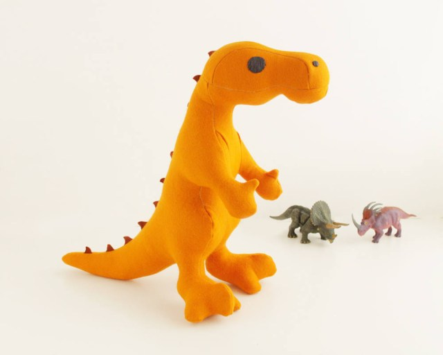 Dinosaur Sewing Pattern Stuffed Animal Sewing Pattern T Rex Dinosaur Plush Sewing Pattern