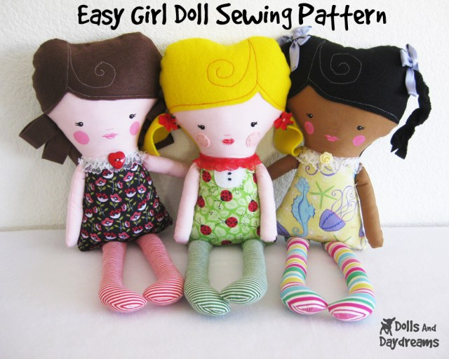 Doll Sewing Patterns Dolly Donations My New Easy Girl Doll Pattern