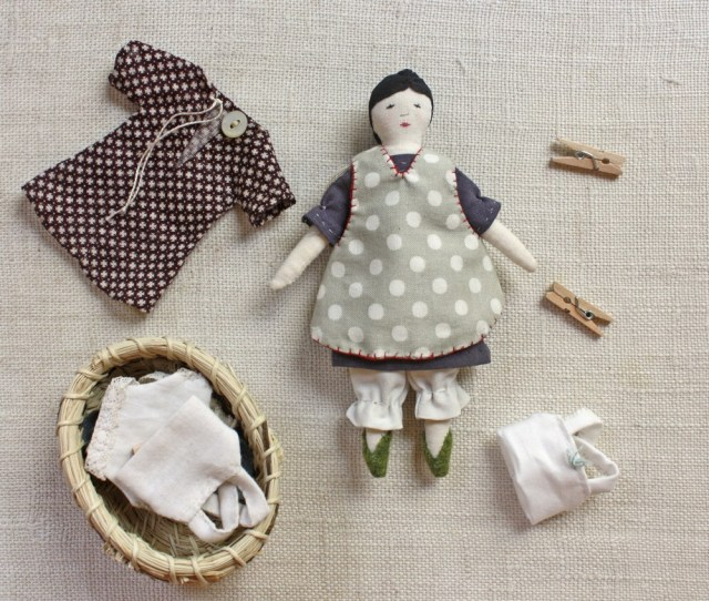 Doll Sewing Patterns Tiny Rag Doll And Wardrobe Pattern Ann Wood Handmade