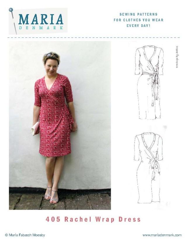Dress Sewing Patterns Mariadenmark 405 Rachel Wrap Dress Sewing Pattern
