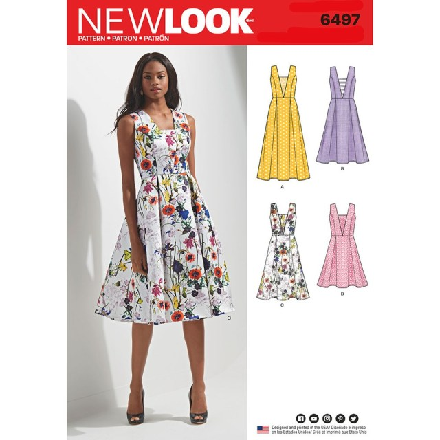 Dress Sewing Patterns Misses Dress With Bodice And Length Variations New Look Sewing