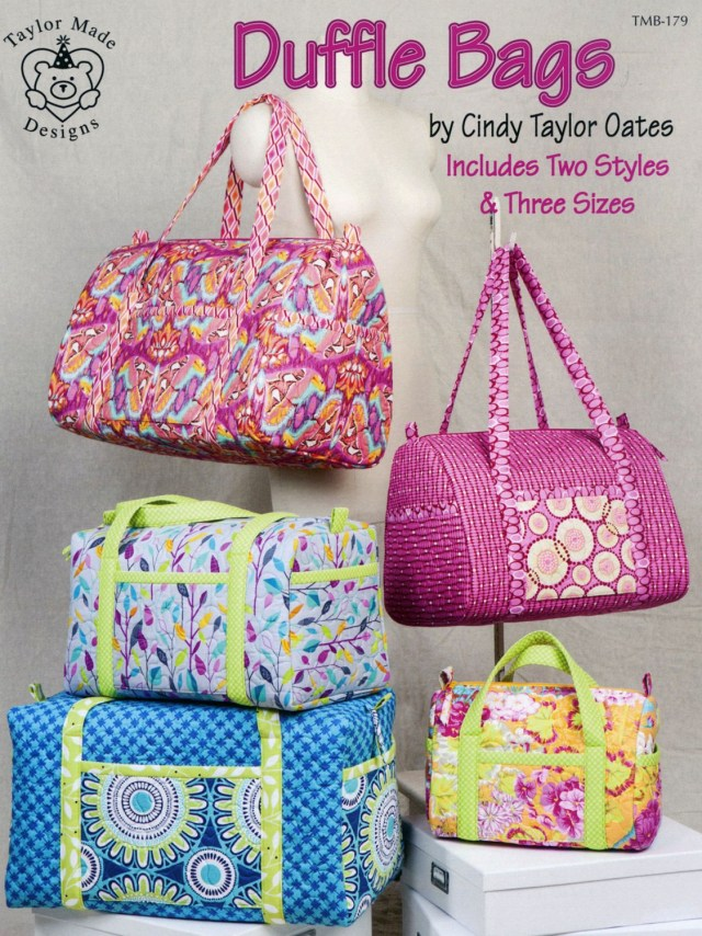 Duffle Bag Sewing Pattern Duffle Bags Sewing Pattern Book Cindy Taylor Oates