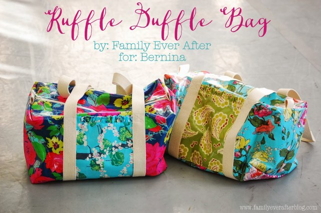 Duffle Bag Sewing Pattern Family Ever After Ruffle Duffle Bag Free Pattern Tutorial