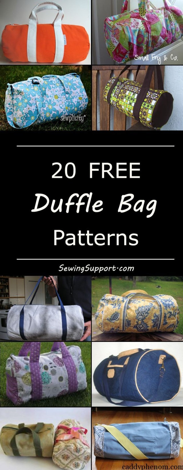 19af5398455f Duffle Bag Sewing Pattern Free Small Duffle Bag Sewing Pattern