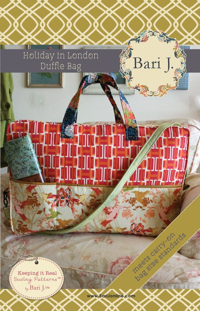 bb336ad52bbf Duffle Bag Sewing Pattern Holiday In London Duffle Bag Sewing Pattern Bari  J Designs Bags