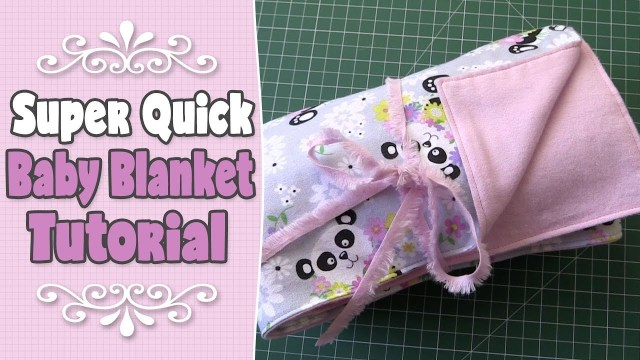 Easy Baby Blanket Sewing Patterns For Beginners Super Easy Quick Ba Blanket Tutorial Beginners Sewing Project