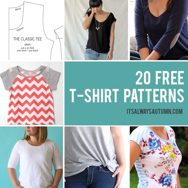 Easy Sew Patterns 20 Free T Shirt Patterns You Can Print Sew At Home Its Always