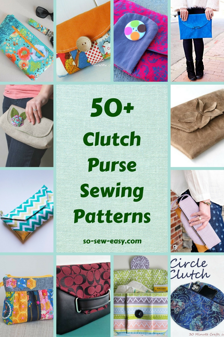 Easy Sew Patterns 50 Free Clutch Purse Sewing Patterns So Sew Easy