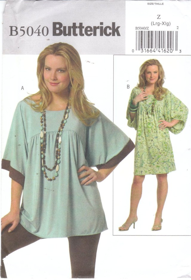 Easy Sew Patterns Easy Sewing Pattern For Womens Plus Size Loose Fitting Pullover